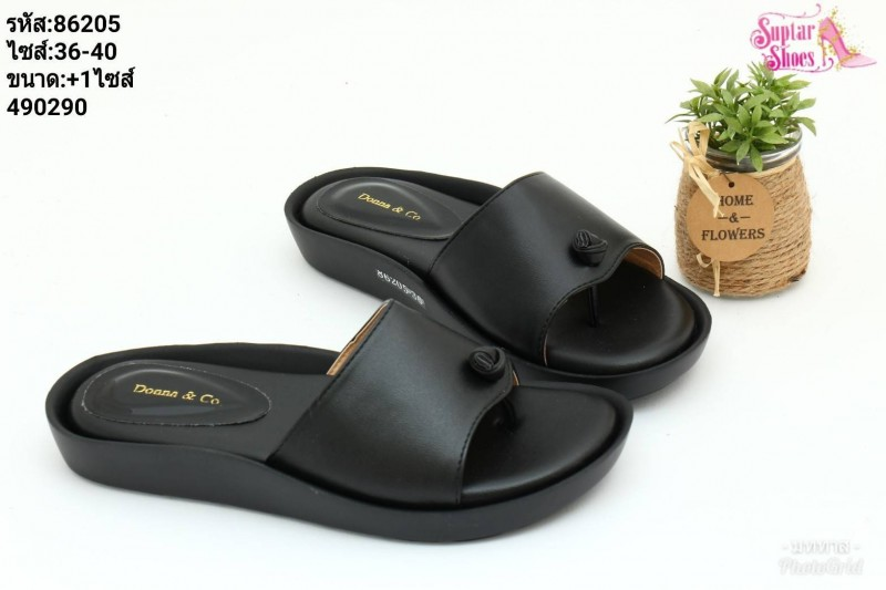 พร้อมส่ง รองเท้าแตะหูคีบ 86205-BLK [สีดำ]