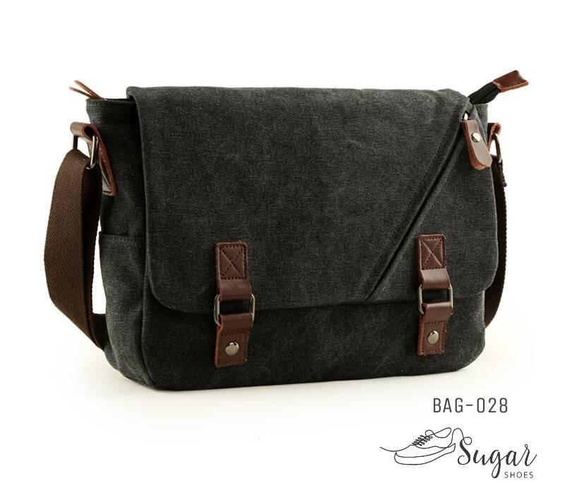 พร้อมส่ง กระเป๋าสะพายผู้ชาย-BAG-028 [สีดำ]