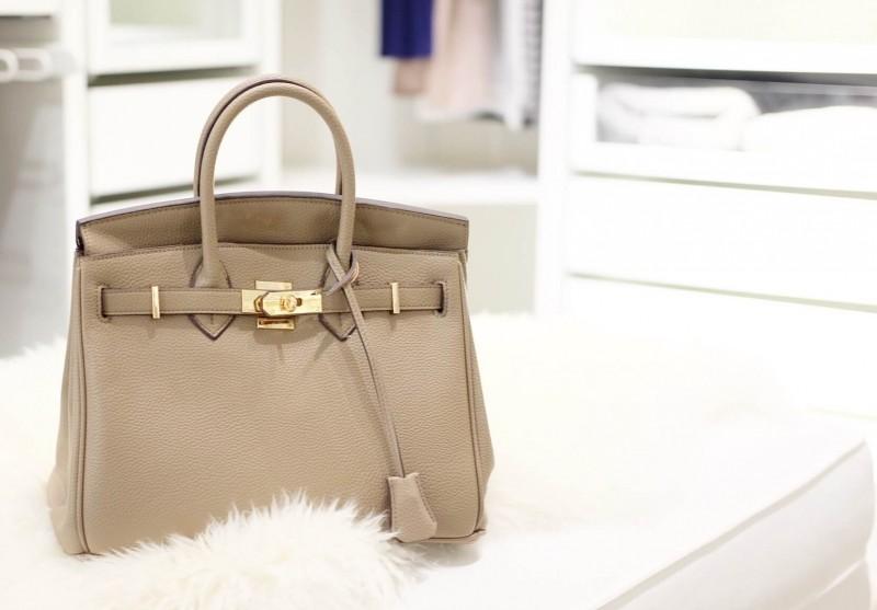 กระเป๋าครัช กระเป๋าถือ Birkin PU [สีดำ]
