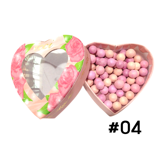 ปัดแก้มลูกบอล ICCI Magic Ball Powder รูปหัวใจ No.04