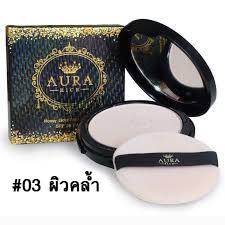 แป้งพัฟออร่าริช Aura Rich Goldden honey Powder SPF35 PA+++ No.03