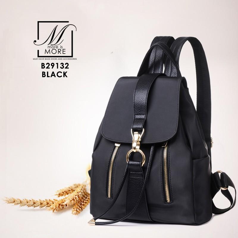 เป้กระเป๋าถือ เป้แฟชั่นนำเข้าสุดเก๋ส์ B29132-BLK (สีดำ)