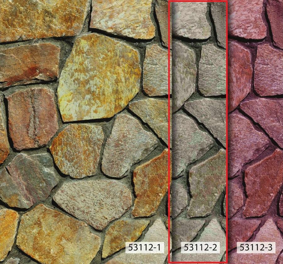 วอลเปเปอร์ลายหินกาบ สีเทา