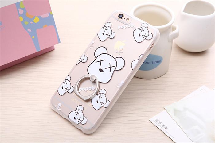 เคสขอบยาง 1.4mm - ตุ๊กตาหมี / อักษรจีน - เคส iPhone 6 / 6S