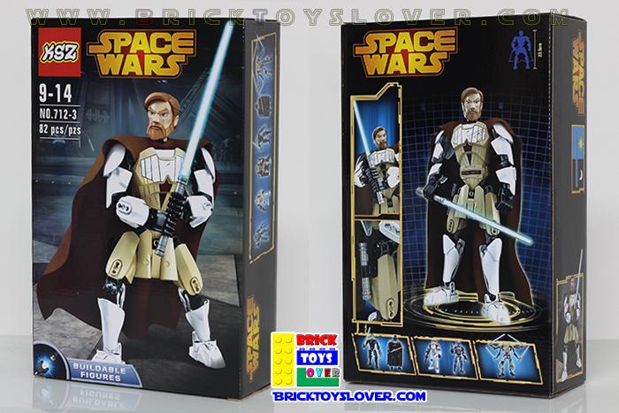 เลโก้จีน KSZ 712-4 ฟิกเกอร์ Obi Wan โมเดล Star Wars