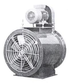 พัดลมระบายอากาศ ถังกลม แบบทดสายพาน เคพีเอ็ม ขนาด 40 นิ้ว รุ่น KVFB-3402