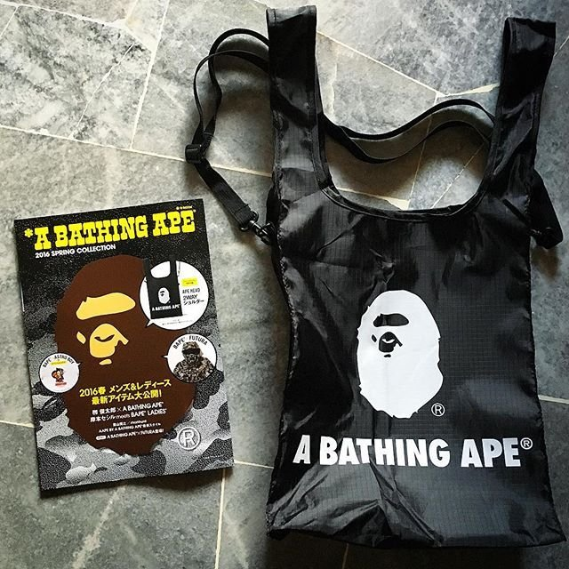 กระเป๋า A Bathing Ape 2 Way Ape Head Spring Collection 2016 (e-Mook)