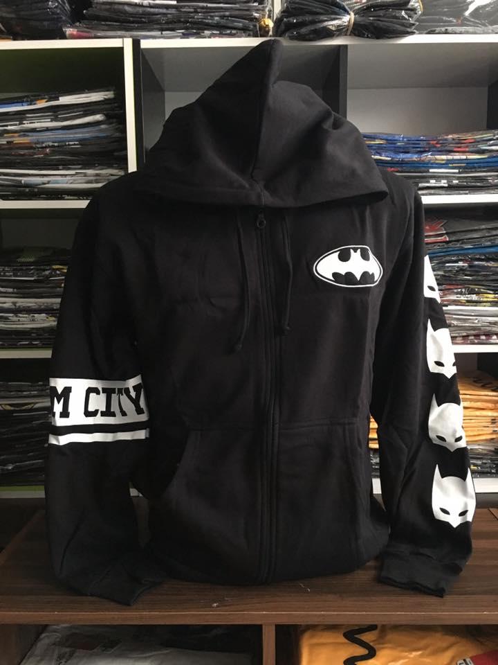 แบทแมน เสื้อกันหนาวฮู้ด (Batman black logo)