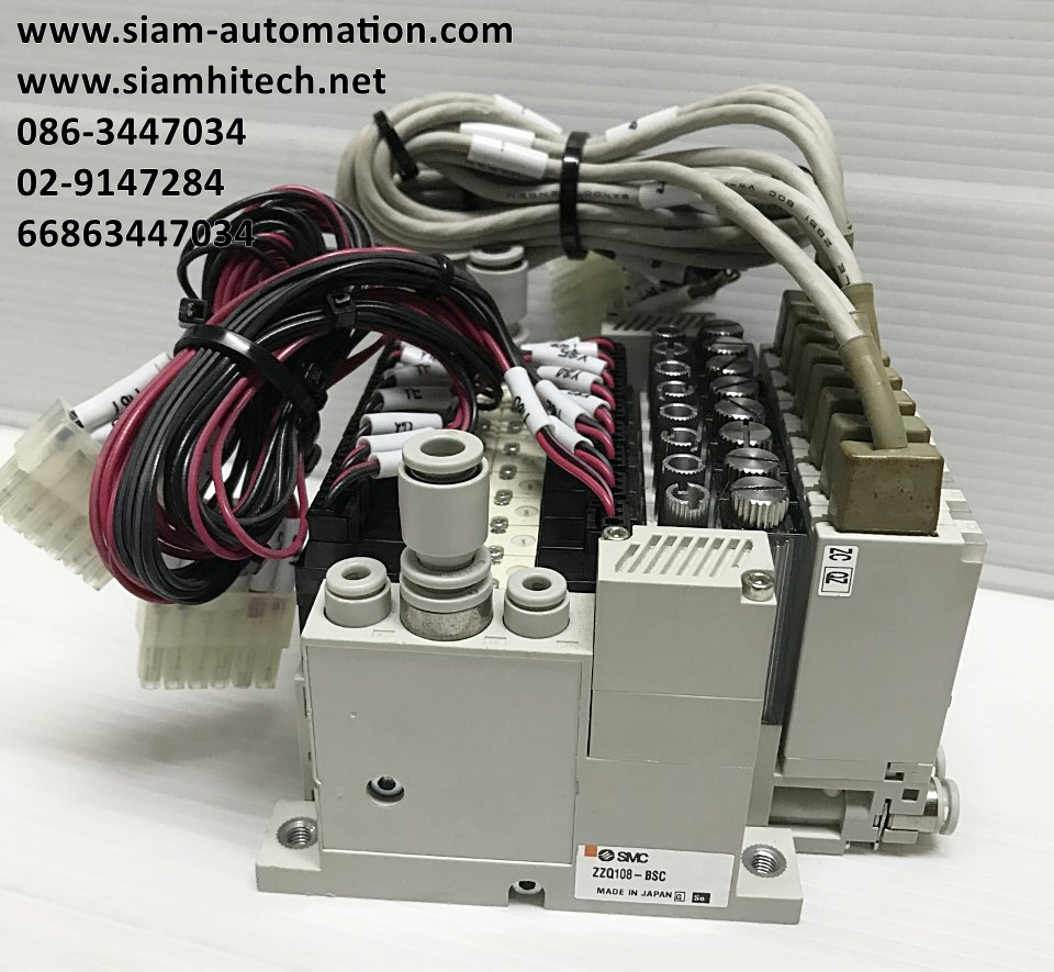 โซลินอยด์วาล์ว Vacuum Ejector ยี่ห้อ SMC รุ่น ZZQ108 (Used)
