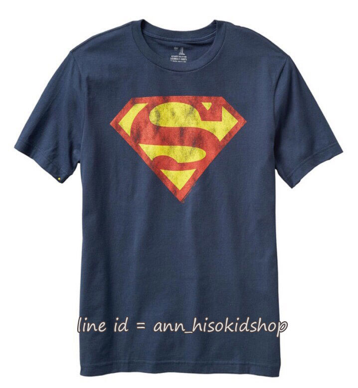 1943 GAP KIDS SUPERMAN TEE - NAVY BLUE ขนาด 8-9,10 ปี