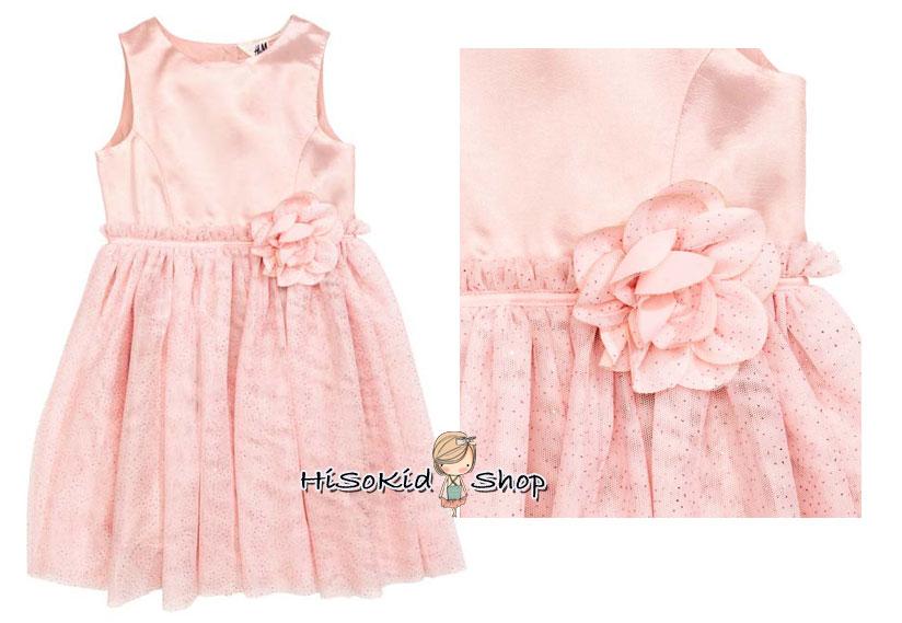 1007 H&M Sleeveless dress - Pink ขนาด 2-4 ปี