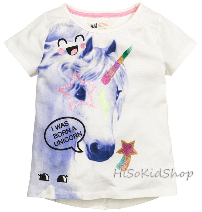 1221 H&M T-Shirt - Off White ขนาด 10-12 ปี