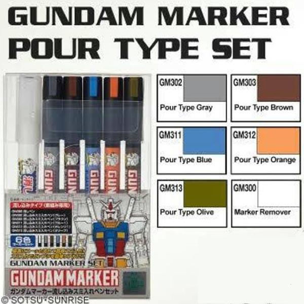 Gundam Marker GMS-122 Marker Set 6 GUNPLA Set GSI CREOS