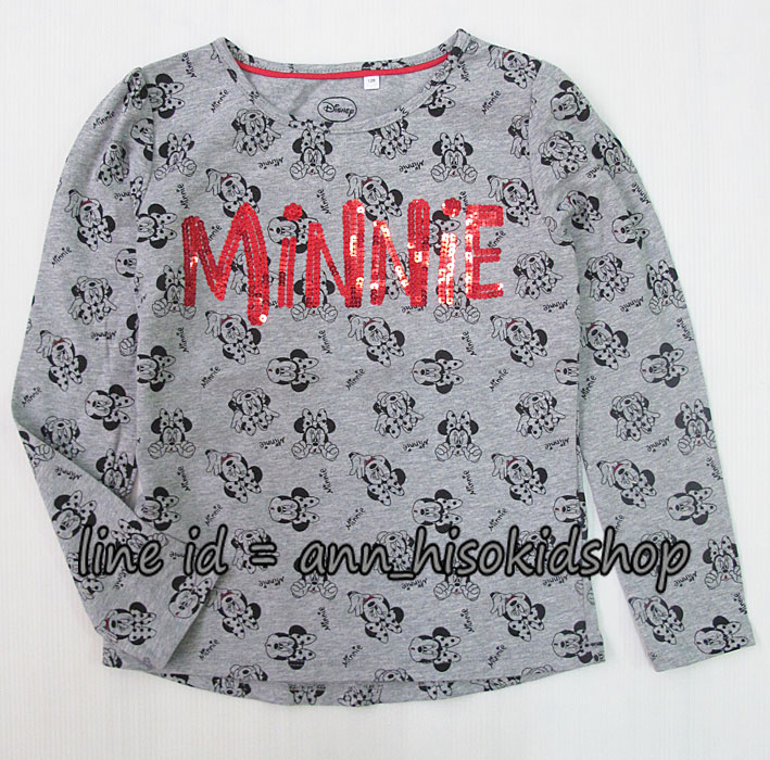 1740 Disney Minnie Long Sleeve - Grey ขนาด 128