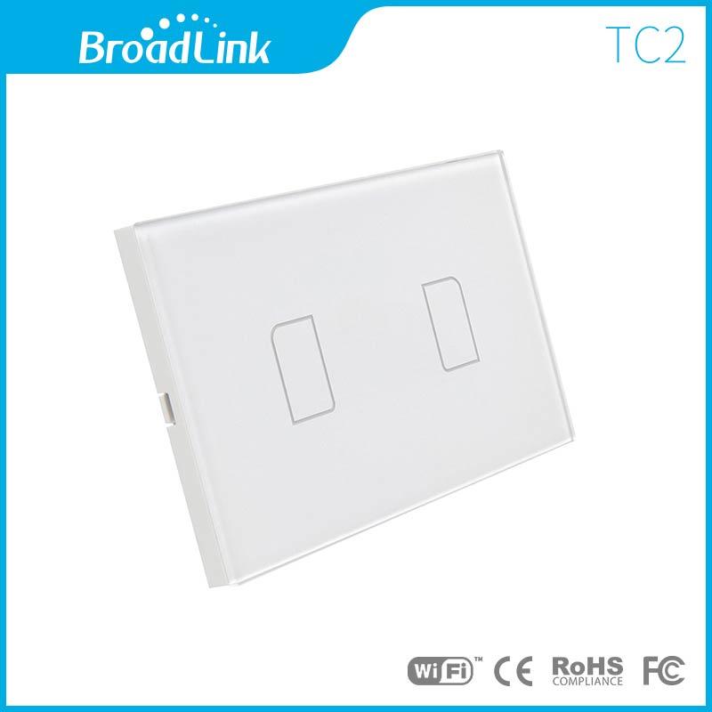 ฺBroadLink สวิตไฟฟ้าระบบสัมผัส 2 ปุ่มกด