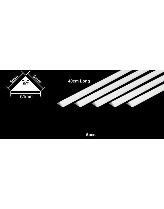 plastic beams 5mm. (5pcs.) triangle (ยาว 40cm.)
