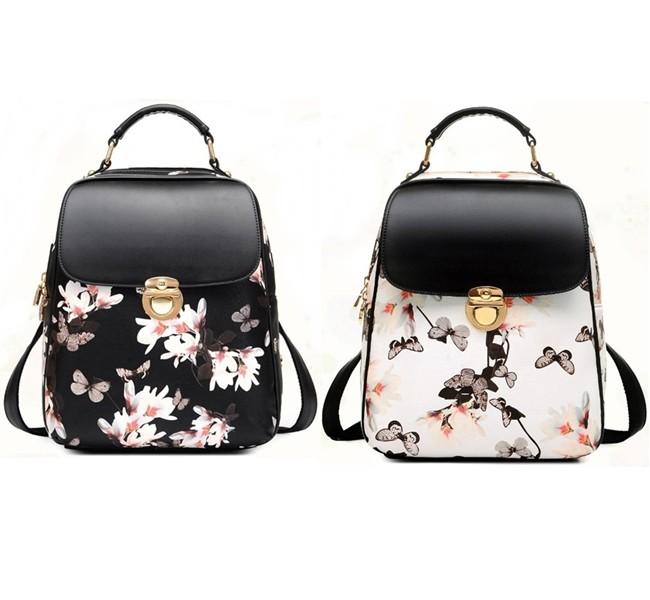 พร้อมส่ง กระเป๋าเป้ กระเป๋าสะพายหลัง แบรนด์Beibaobao รุ่น B110 (สีดำ สีขาว)