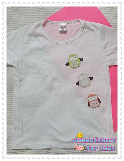 เสื้อยืดเด็ก ลายนกฮูก แบบที่ 4 Size L
