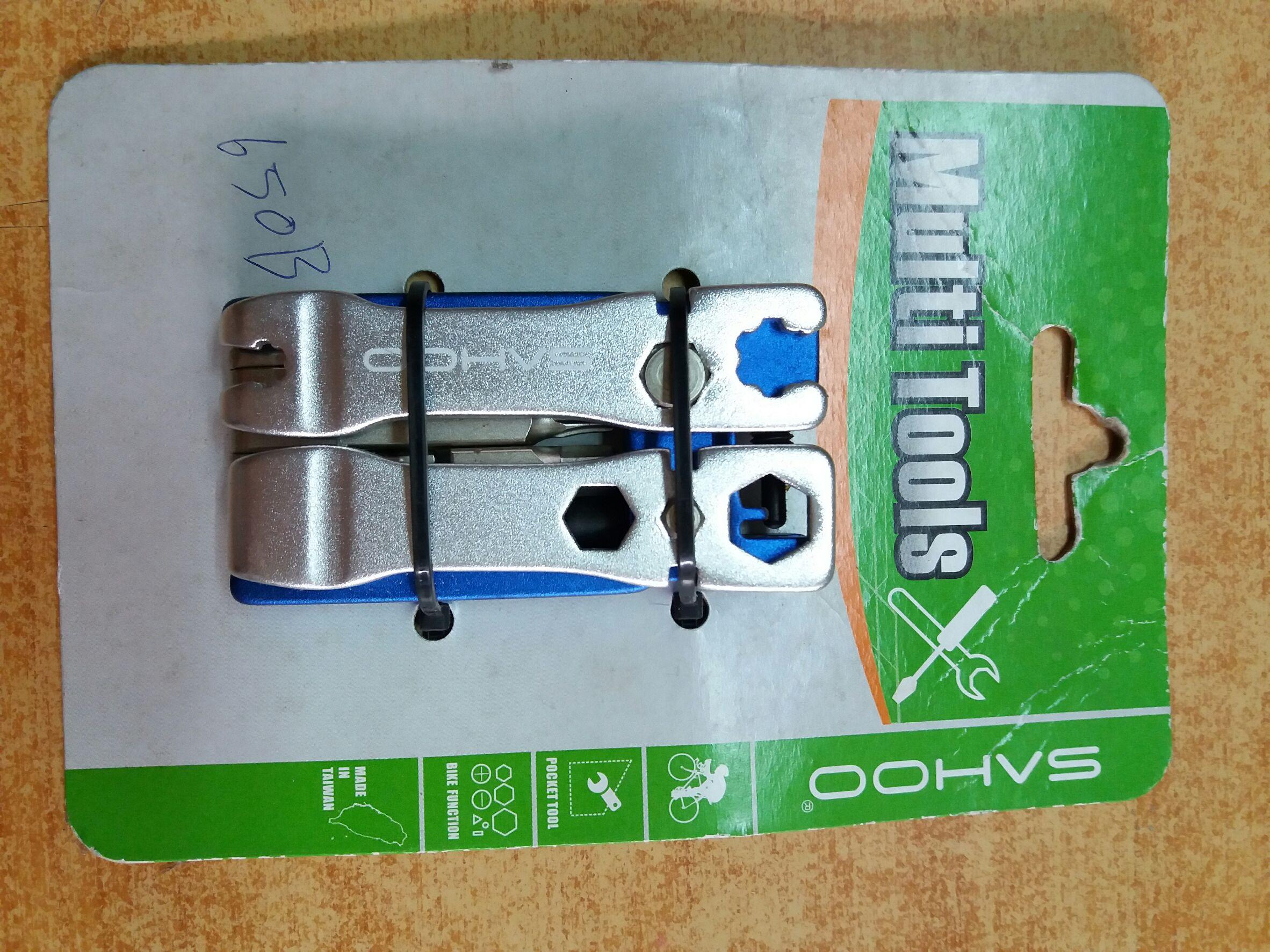 ชุดเครื่องมือซ่อมจักรยานแบบพกพา SAHOO 19 in 1 multi-tool