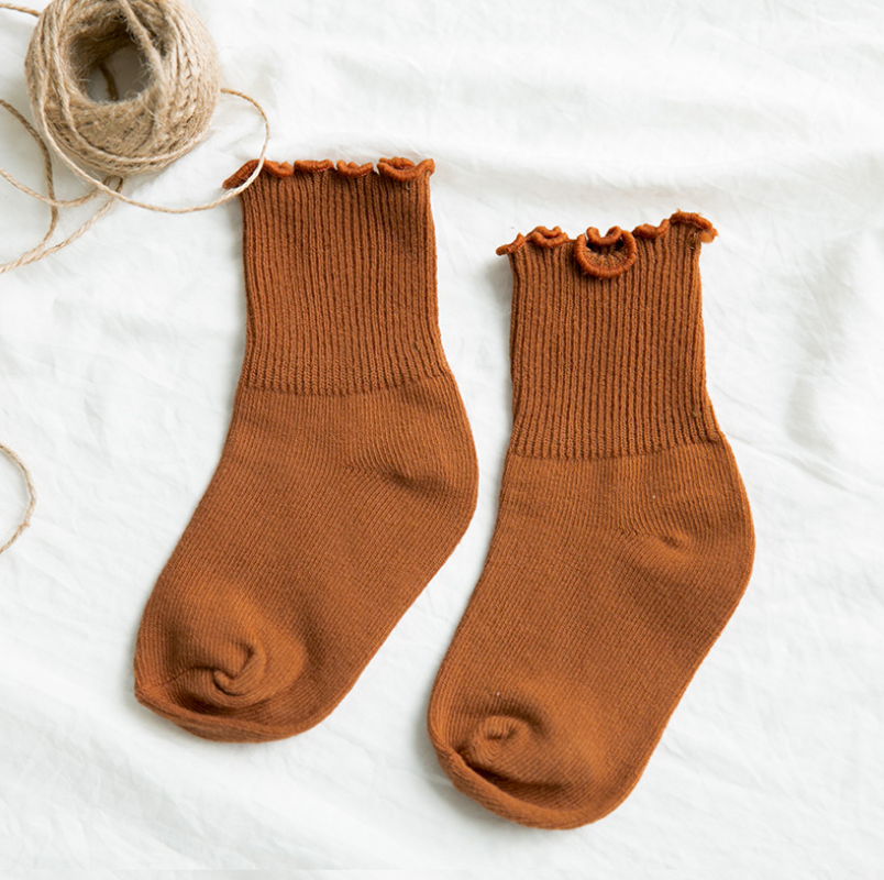 ถุงเท้าสั่น สีน้ำตาล แพ็ค 12คู่ ไซส์ L (อายุประมาณ 6-8 ปี)
