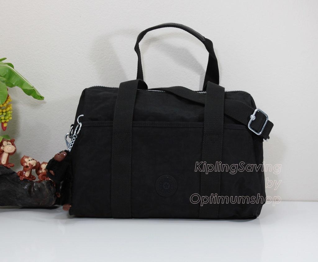 Kipling Practicool หรือ Practi-cool Black กระเป๋าสะพายข้าง ทรงสวย ขนาด 38.5 W x 21 H x 17.5 D cm Medium