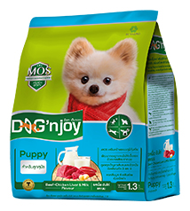 Dog'njoy สูตรลูกสุนัข 8 กิโลกรัม ส่งฟรี