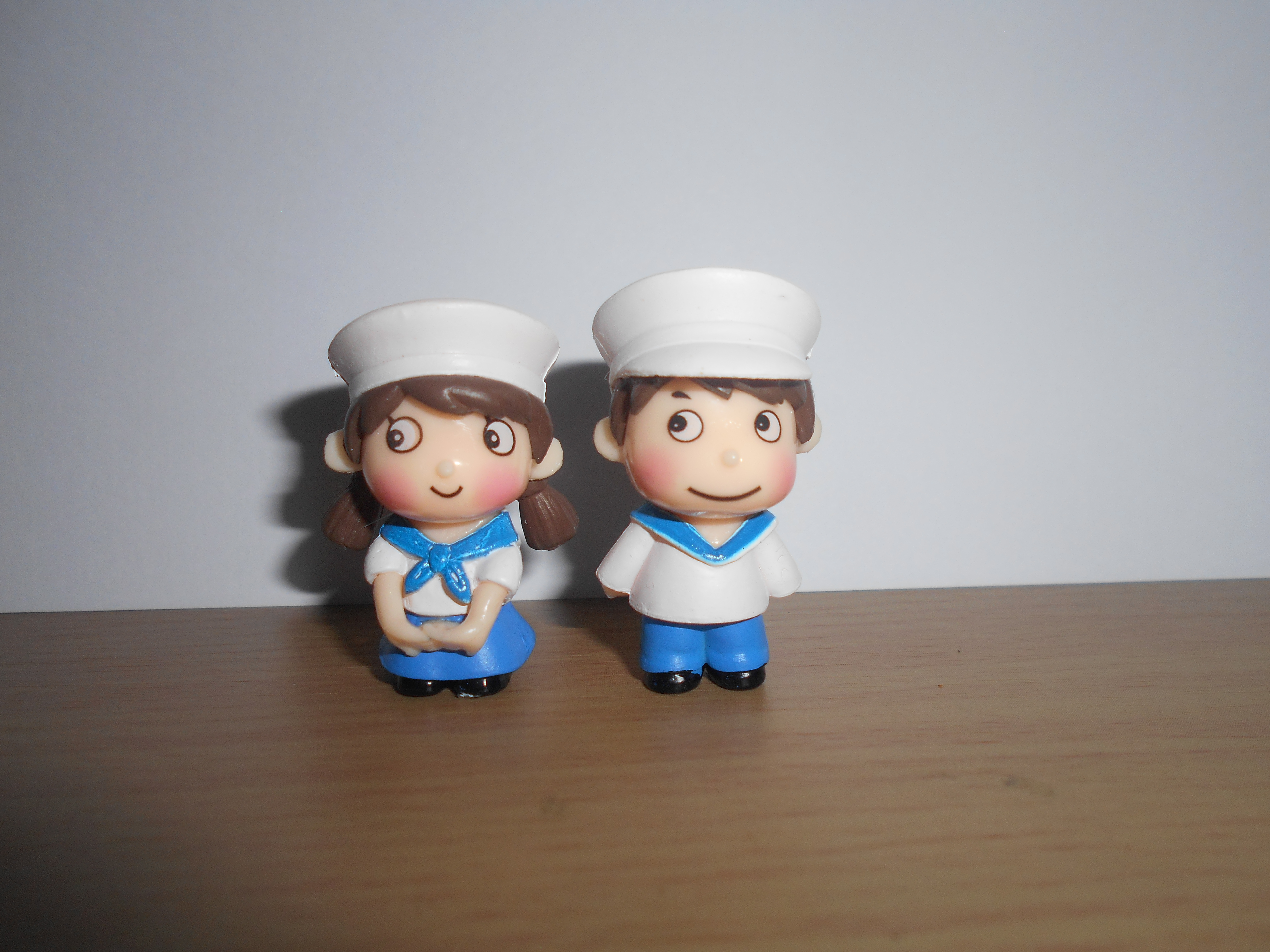 ตุ๊กตาเด็กทหารเรือคู่ สีขาว&ฟ้า