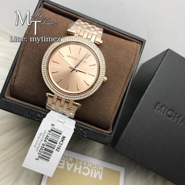 MICHAEL KORS Darci Rose Gold Dial Pave Bezel Ladies Watch MK3192