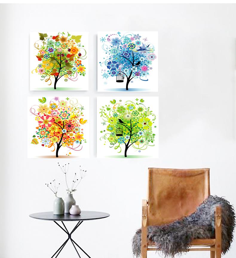 ภาพต้นไม้ colorful 4ต้น Arthome364