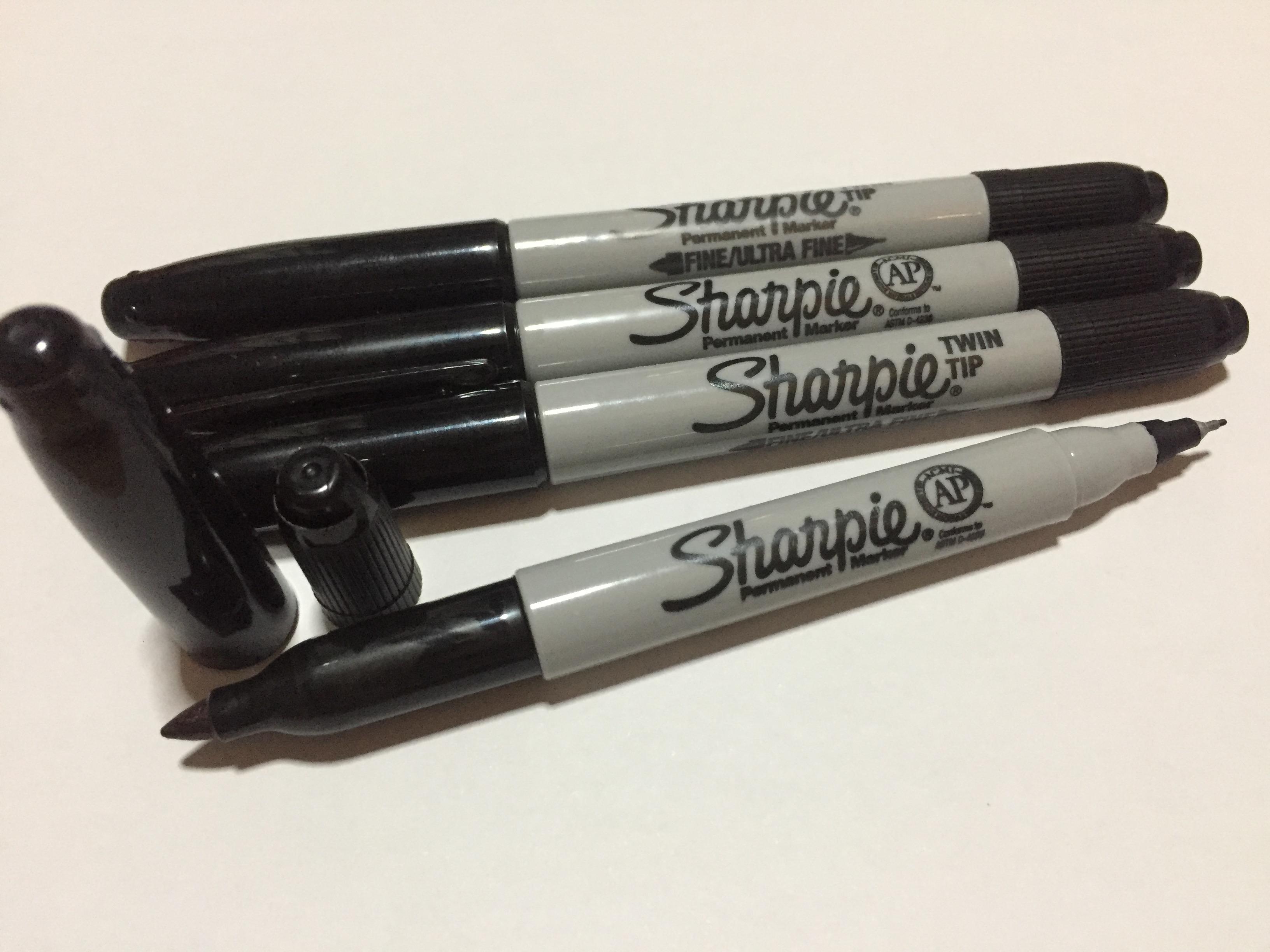 ปากกาจ่าหน้าซองพลาสติก ตราชาร์ปี้ Sharpie 2หัว