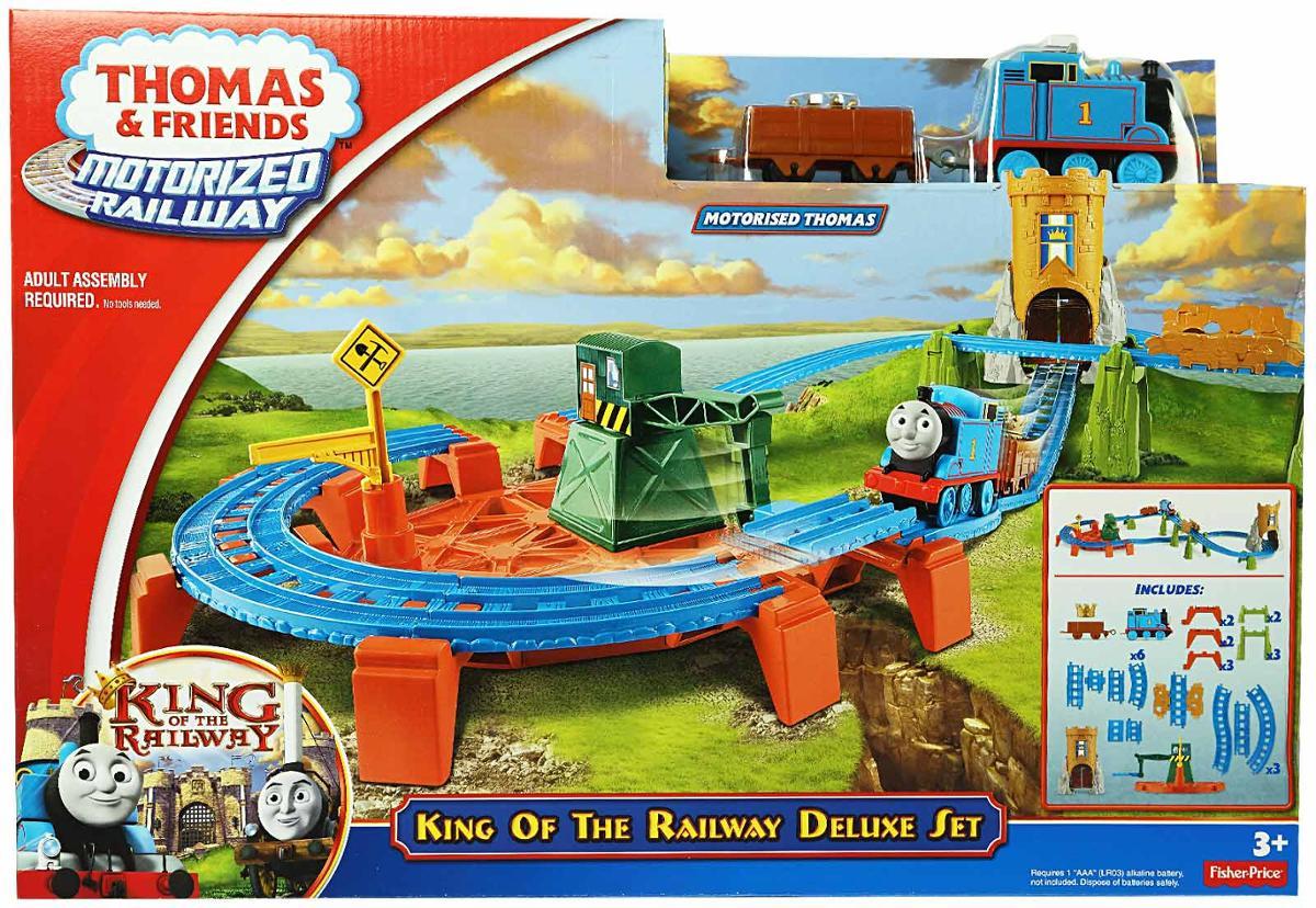 รถไฟ Thomas king of the railway deluxe set fisher price ของแทั ส่งฟรี