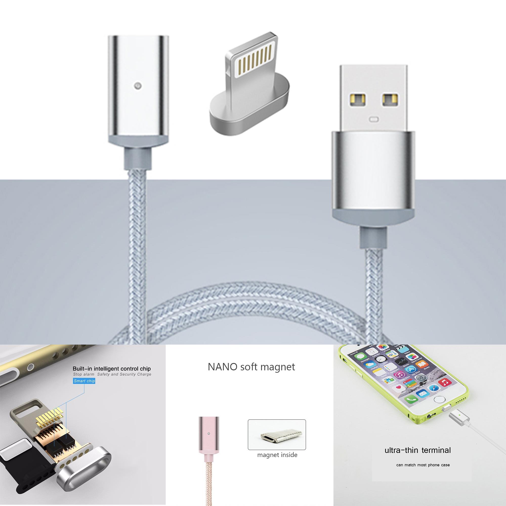 ที่ชาร์จมือถือแท็บเล็ตแถบแม่เหล็กถนอมช่องเสียบ Charger Magnetic cable For IPHONE