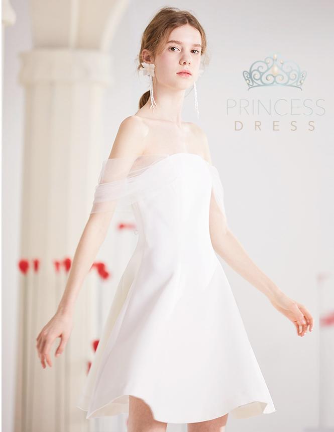 A008 Kirsten white Princess Dress