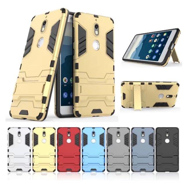 (538-029)เคสมือถือ Nokia 7 เคสขอบนิ่มพื้นหลังพลาสติกขาตั้งสไตล์ IronMan