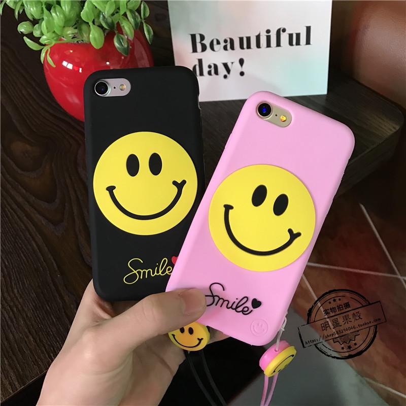 (513-049)เคสมือถือไอโฟน Case iPhone 6/6S เคสนิ่มอมยิ้ม SMILE