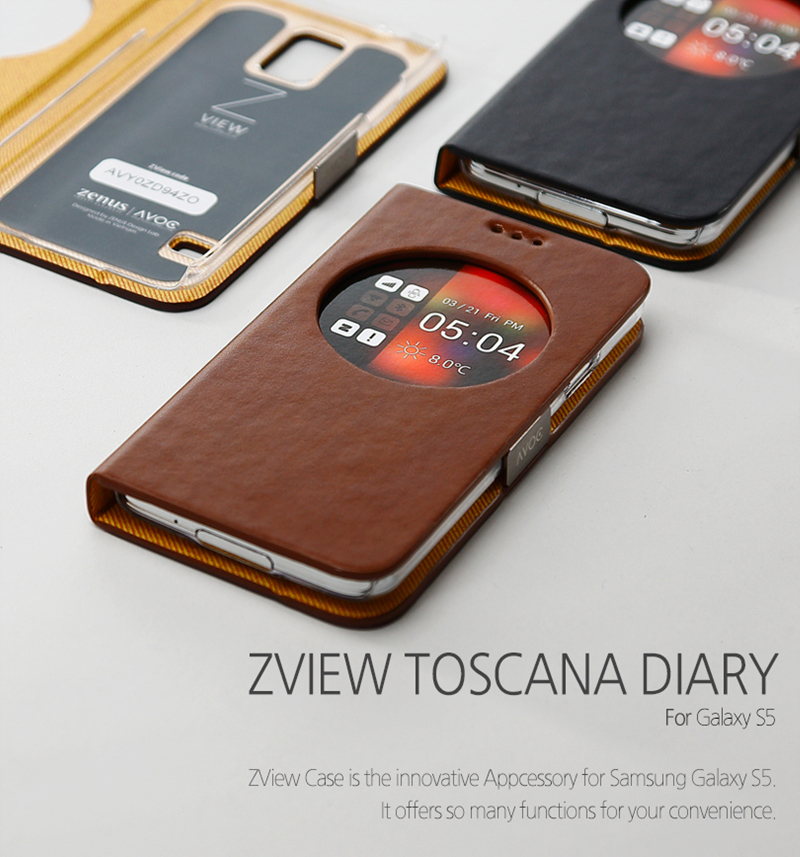 Zenus : Avoc ZView Toscana Leather Diary Case for Samsung Galaxy S5, SV, G900