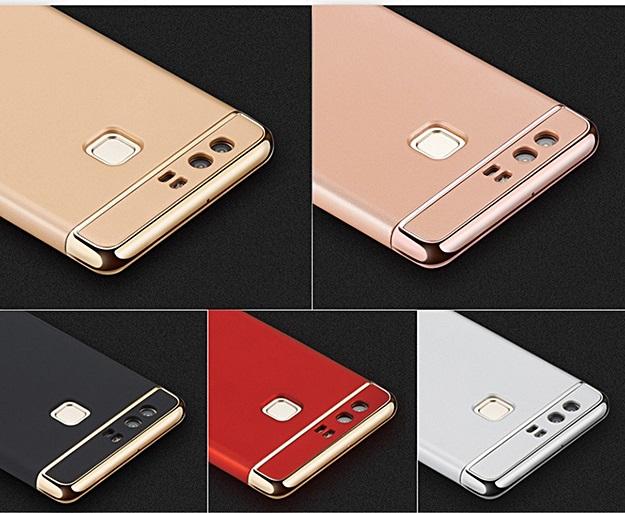(390-031)เคสมือถือ Case Huawei P9 เคสพลาสติกขอบชุบเงาแววหรูหรา