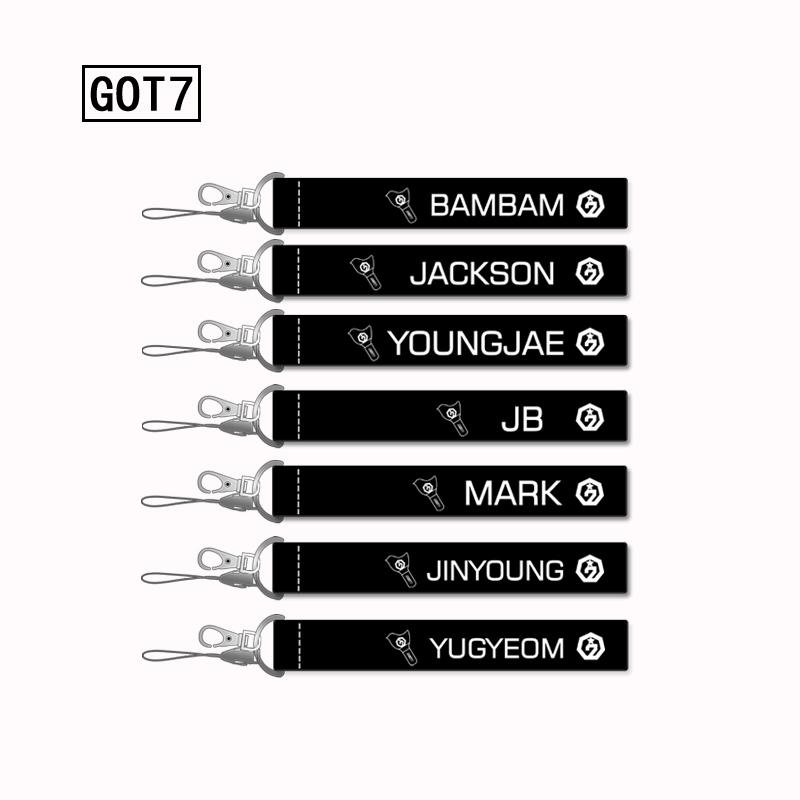 GOT7 Nametag (Black) -ระบุสมาชิก-