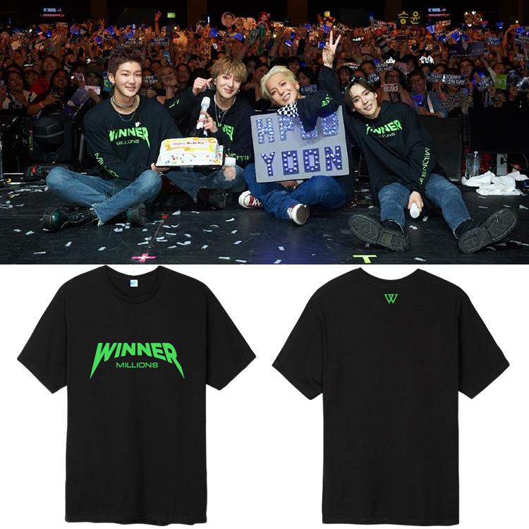 เสื้อยืด WINNER - MILLIONS Logo -ระบุสี/ไซต์