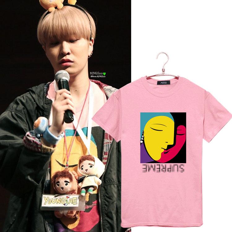 เสื้อยืด Supreme 17ss Sty.YougJae -ระบุสี/ไซต์-