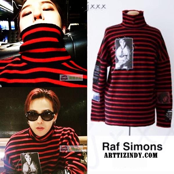 เสื้อแขนยาว Raf simons RedBlack Sty.G-Dragon -ระบุไซต์-