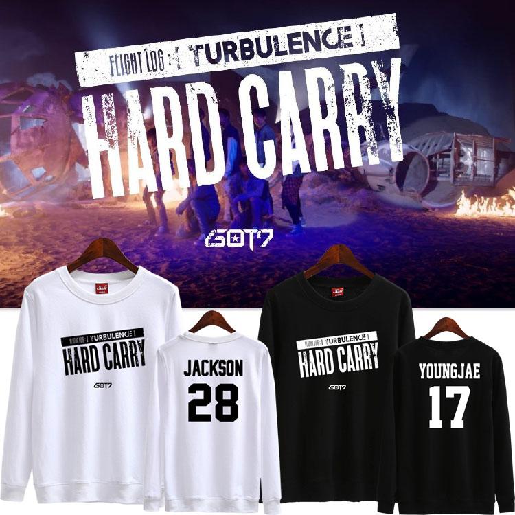 เสื้อแขนยาว GOT7 Hard Carry MEMBER -ระบุสี/ไซต์/สมาชิก-