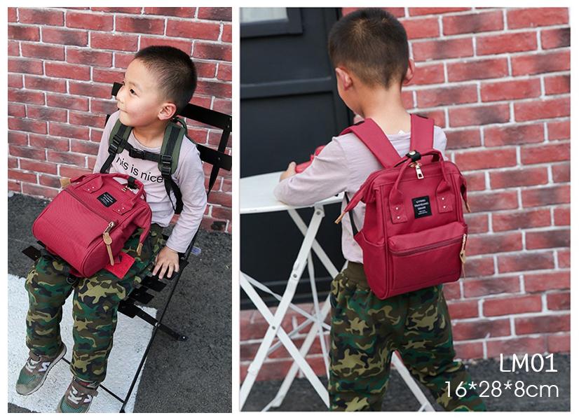 LM01 กระเป๋าเป้มินิ - สีแดง