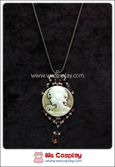 สร้อยคอโกธิคโลลิต้า จี้สไตล์วิคตอเรียน สีทองโบราณ Victorian Gothic Lolita Necklace
