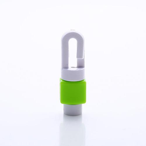 อุปกรณ์ถนอมสายหูฟังโทรศัพท์มือถือ สีเขียว