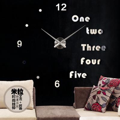 นาฬิกาDIY ขนาดจัมโบ้90cm สีเงิน big5B