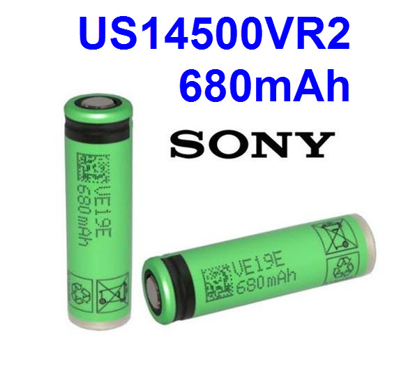 Sony US14500VR2 3.6V 680mAh 715mAh capacity lithium li-ion rechargeable battery 14500 AA battery