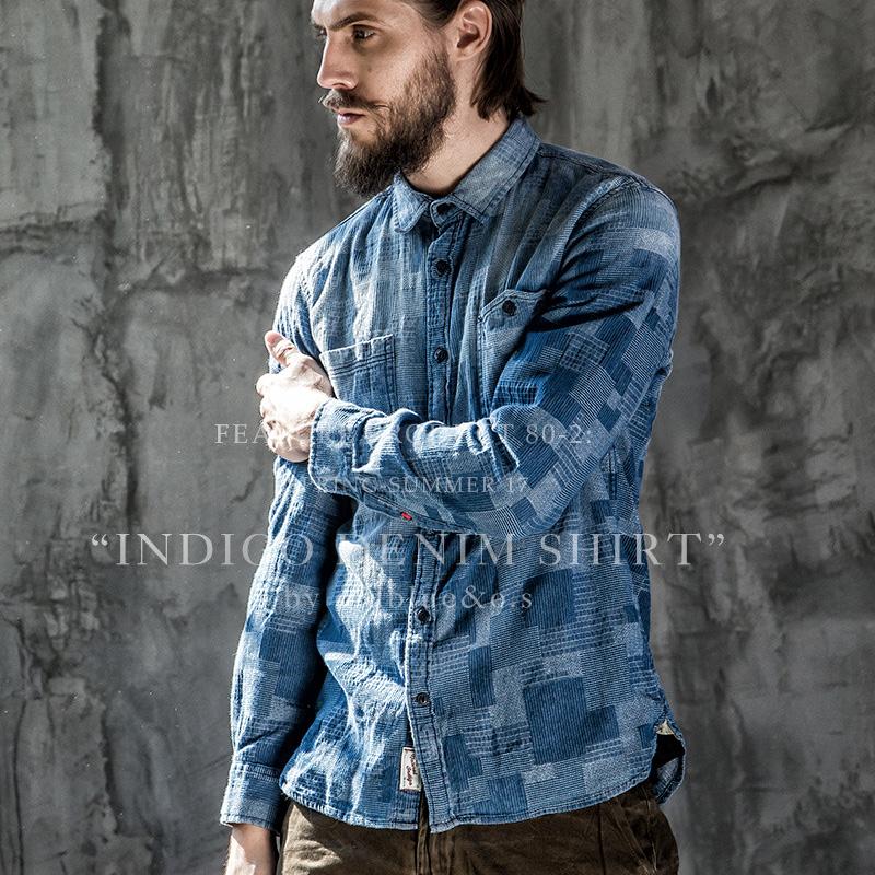 *Pre Order*เสื้อเชิ้ตแขนยาว OldSaints080 jacquard ฝ้าย 95% size S,M,L,XL