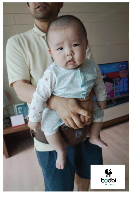 รีวิวเป้อุ้มเด็ก ก Todbi (สีBoston Brown)