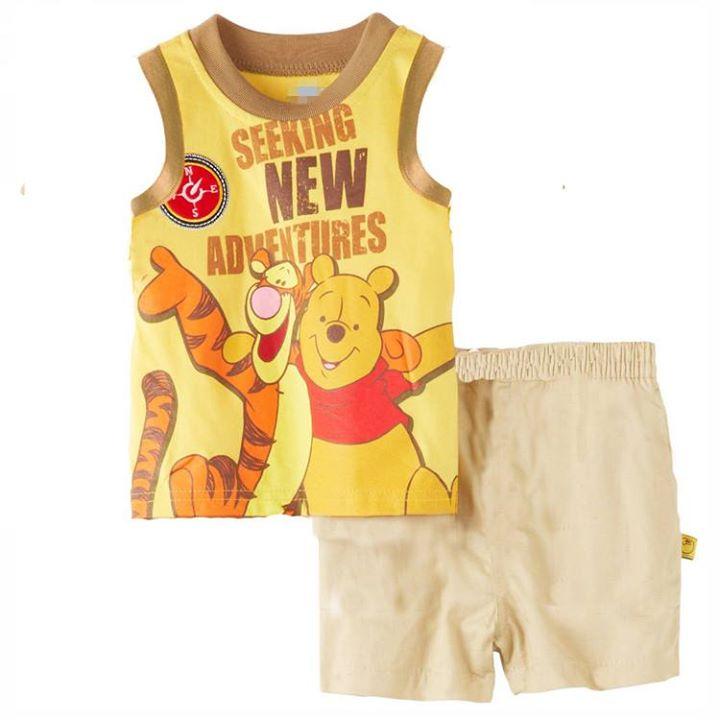 ชุดเสื้้อ+กางเกงขาสั้นดิสนีย์หมีพูห์